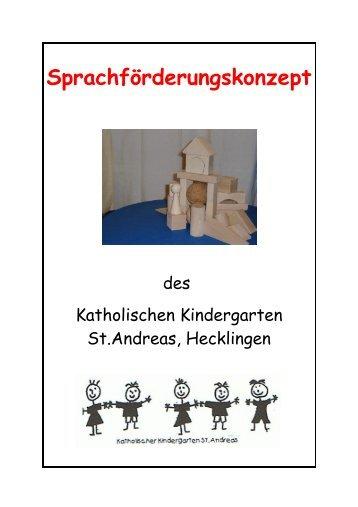 Sprachförderungskonzept - Kindergarten St. Andreas Hecklingen