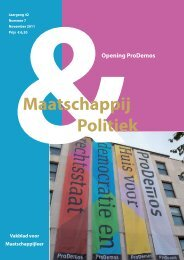 2011-7 - Maatschappij en Politiek Magazine
