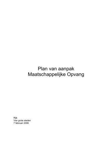 plan van aanpak maatschappelijke opvang Reactie Hans Spekman op wet minnelijke    Federatie Opvang plan van aanpak maatschappelijke opvang