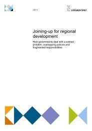 Joining-up for regional development - Statskontoret