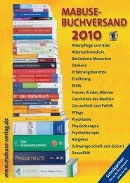 MABUSE- BUCHVERSAND -  Mabuse Verlag