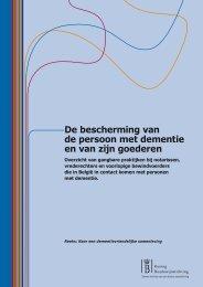 De bescherming van de persoon met dementie en van zijn goederen