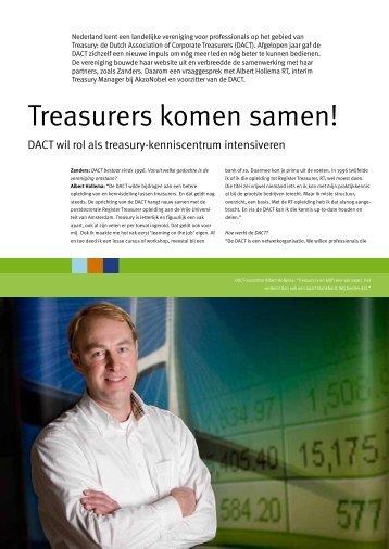 Treasurers komen samen!