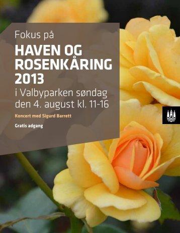 Program for Rosenkåring 2013 - Cafe Rosenhaven