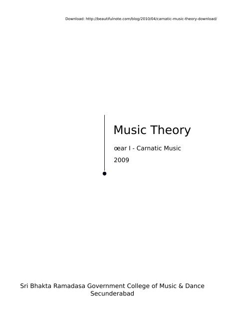 Carnatic Music Theory Download Carnatic Music Theory Notes