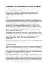 Rapport från Bolognaseminariet, Stockholms universitet 4 juni 2013