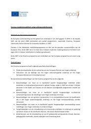 Erasmus studentenmobiliteit in één oogopslag - Epos