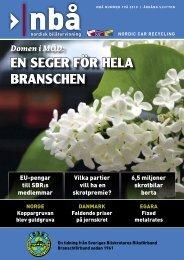 EN SEGER FöR HELA BRANSCHEN - SBR