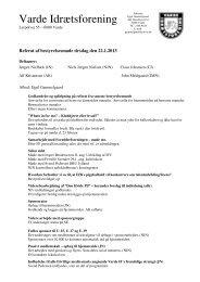 Referat af bestyrelsesmøde d. 22/01-2013 - Varde IF