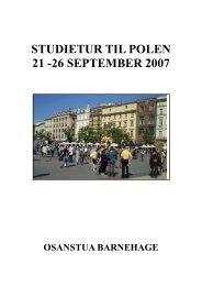 Studietur Polen 2007 - Osanstua Barnehage