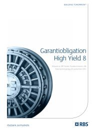 Garantiobligation High Yield 8 - Carlström & partners Kapital AB