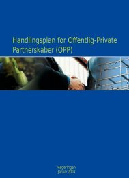 Handlingsplan for Offentlig-Private Partnerskaber ... - Finansministeriet