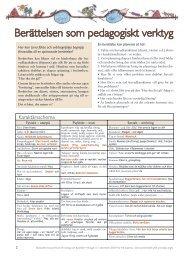 Berättelsen som pedagogiskt verktyg - Nationellt resurscentrum för ...