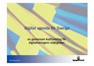 Digital agenda för Sverige - Sambruk