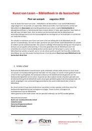 Plan van aanpak, 3e fase Bibliotheek op de Basisschool - SIOB