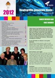 Jaarverslagkrant 2012 - Gemeente Venlo