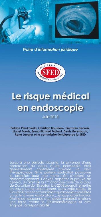 Le risque médical en Endoscopie - SFED