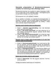Skematisk præsentation af Strukturkommissionens modeller for ...