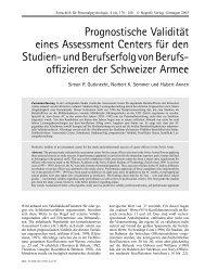 Prognostische Validität eines Assessment Centers für den Studien ...