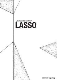 2012 #3, Ingenting - Litteraturtidsskriftet Lasso