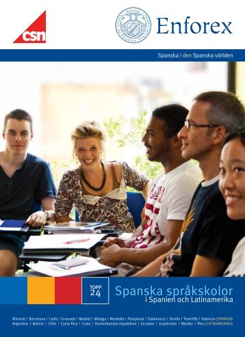 24 Spanska språkskolor - Enforex