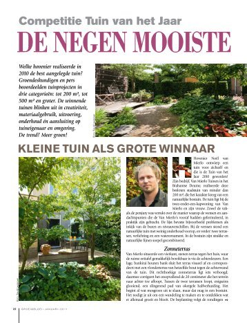 Groei en Bloei – Tuin van het Jaar 2010 - Van Mierlo Tuinen