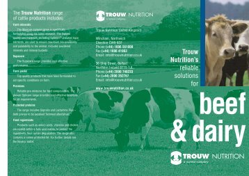 Beef & Dairy Leaflet - Trouw Nutrition UK