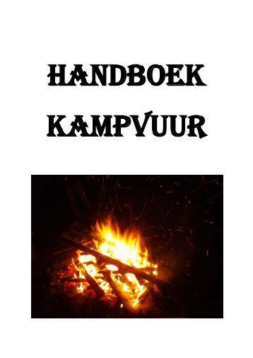Het handboek kampvuur - Scouting Mariagroep