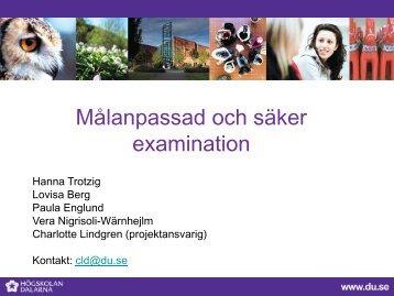 Målanpassad och säker examination