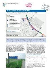 Verslag informatiebijeenkomst 29 november 2012 VERKENNING ...