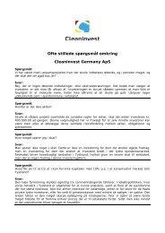 Ofte stillede spørgsmål omkring Cleaninvest Germany ApS