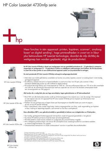 HP Color LaserJet 4730mfp serie