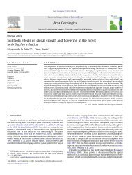 Soil biota effects on clonal growth and flowering in the forest herb ...