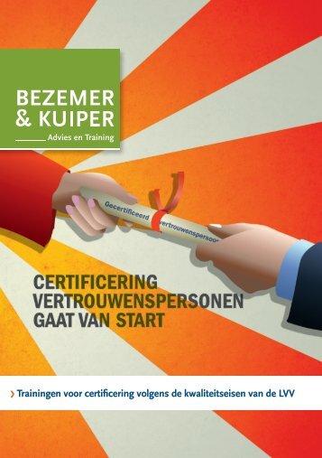 Trainingen voor certificering volgens de ... - Bezemer & Kuiper