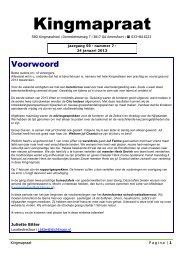 Kingmapraat 7 - Stichting Speciaal Onderwijs Amersfoort