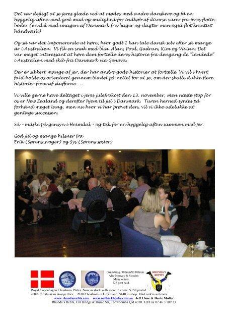Medlemsblad - The Danish Club in Brisbane, Australia