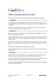 Villkor karriärcoachning - Jusek