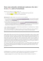 Sanktioner efter aktivlovens § 41 - Herning Kommune