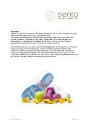 Handleiding voor gezond eten en bewegen - Sento