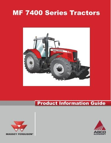 MF 7400 Product Guide - Rudolph Brothers Implement