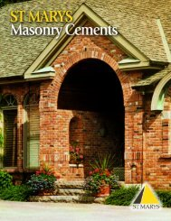 Masonry and Mortar Cements Brochure - St Marys Cement