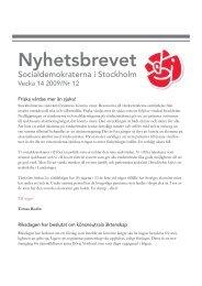 Nyhetsbrevet - Socialdemokraterna
