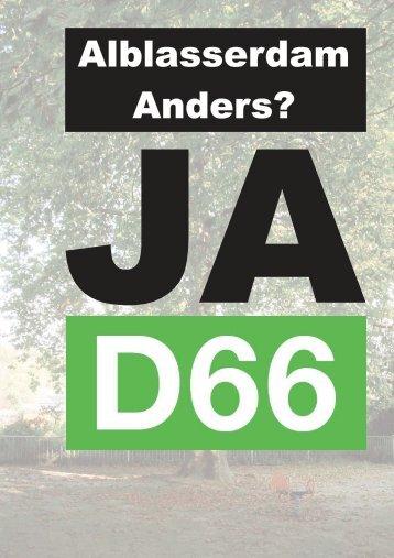 Verkiezingsprogramma - D66 Alblasserdam