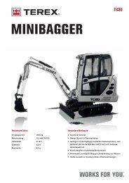 MINIBAGGER - Terex Construction - Home