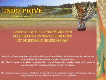 Klik hier voor 11e editie mei 2009 - Indo Privé