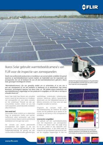Ikaros Solar gebruikt warmtebeeldcamera's van FLIR voor de ... - Kwx
