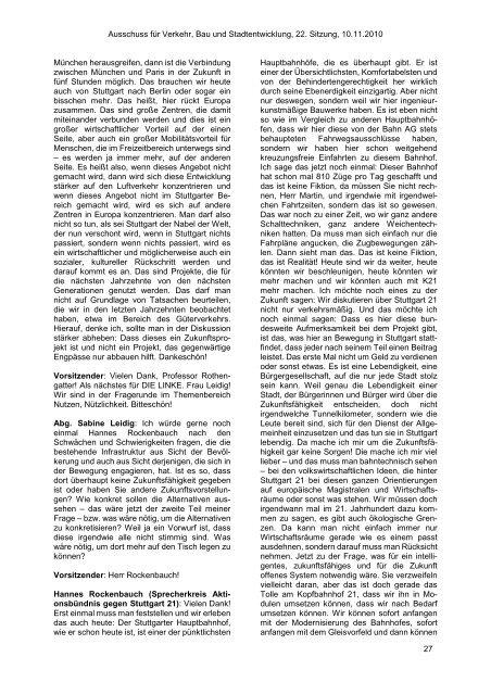Offizielles Protokoll der Sitzung - Stuttgart 21 Wiki
