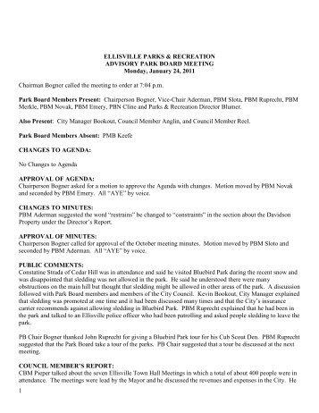 ELLISVILLE PARKS & RECREATION - City of Ellisville