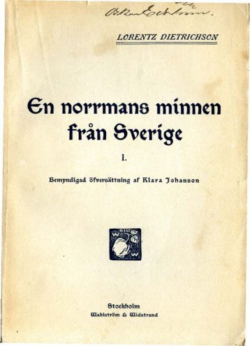 """€n norrmans minntn från e""""trigt - Murberget CollectiveAccess System"""