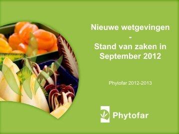 Nieuwe wetgeving - Phytofar